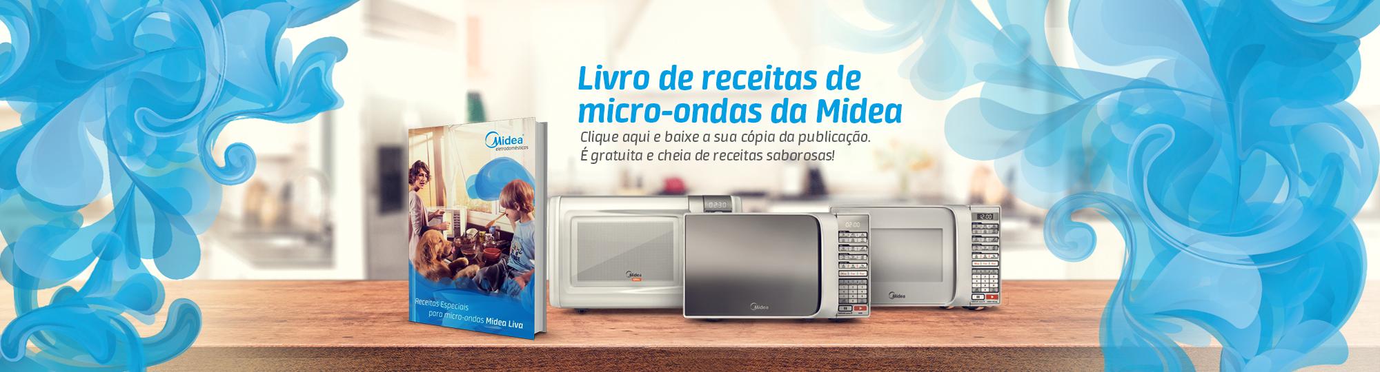 Livro de Receitas para Micro-Ondas Midea Liva